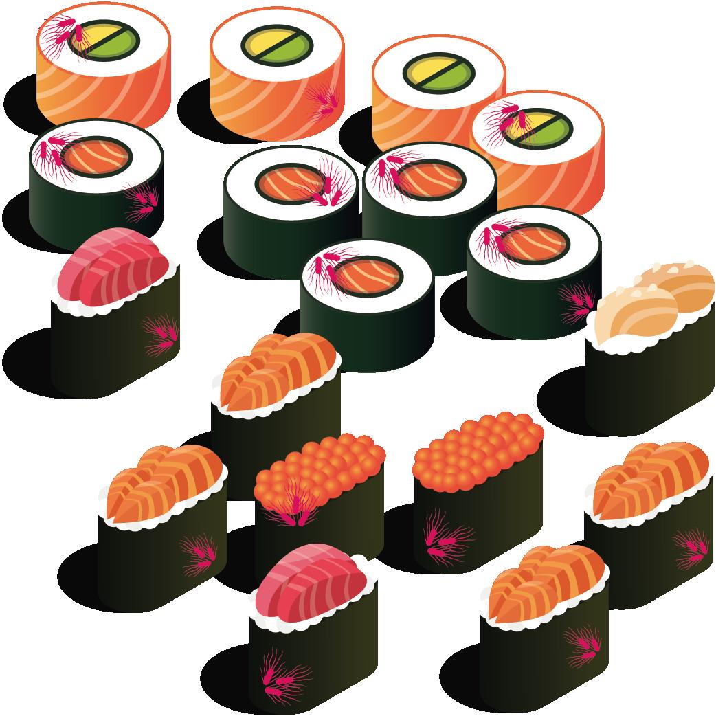 contaminated sushi